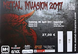 Ticket Metal Invasion 2017