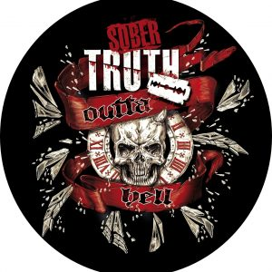 Outta hell Skull Sober Truth Sticker