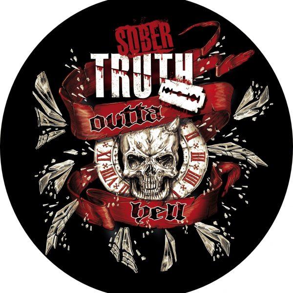 Outta hell Skull Sober Truth Sticker